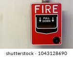 fire alarm  fire alarm on the... | Shutterstock . vector #1043128690