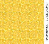 yellow lemon fruit slices... | Shutterstock . vector #1043129248