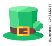 st. patrick's day hat with... | Shutterstock .eps vector #1043132194