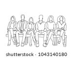 group of business people... | Shutterstock .eps vector #1043140180