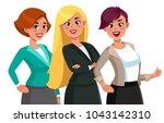 businesswoman character vector... | Shutterstock .eps vector #1043142310