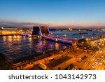 illuminated palace bridge ... | Shutterstock . vector #1043142973