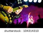 live music background guitar... | Shutterstock . vector #104314310
