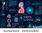 head up display  hud  ui for... | Shutterstock .eps vector #1043143840