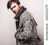 elegant young handsome man.... | Shutterstock . vector #104315279