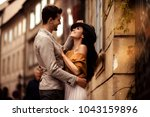 passionate gorgeous young... | Shutterstock . vector #1043159896