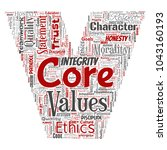 vector conceptual core values... | Shutterstock .eps vector #1043160193
