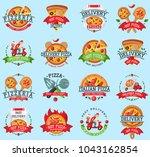 pizza italian restaurant vector ... | Shutterstock .eps vector #1043162854