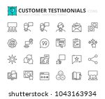 outline icons about customer... | Shutterstock .eps vector #1043163934