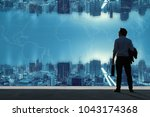 vision concepts  successful... | Shutterstock . vector #1043174368