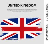 flag of the united kingdom of... | Shutterstock .eps vector #1043175508