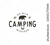 vintage wilderness logo. hand... | Shutterstock .eps vector #1043175544