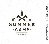 vintage wilderness logo. hand... | Shutterstock .eps vector #1043175553