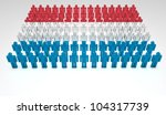 parade of 3d people forming a... | Shutterstock . vector #104317739