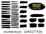 large set different grunge... | Shutterstock .eps vector #1043177536