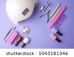 a set of cosmetic tools for... | Shutterstock . vector #1043181346