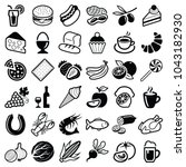 food and drink icon collection  ... | Shutterstock .eps vector #1043182930