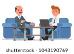 two businessmen. talk at the... | Shutterstock .eps vector #1043190769