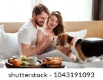cheerful family couple spend... | Shutterstock . vector #1043191093