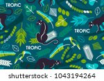 seamless pattern with tropical... | Shutterstock .eps vector #1043194264