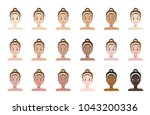 skin tone color index . face of ... | Shutterstock .eps vector #1043200336