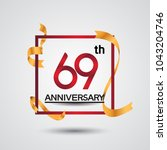 69th anniversary design with... | Shutterstock .eps vector #1043204746
