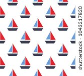 seamless vector pattern with... | Shutterstock . vector #1043217820