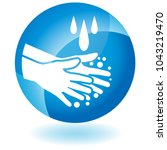 an image of a handwashing soap... | Shutterstock .eps vector #1043219470