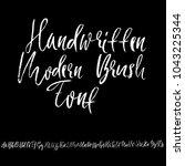 handdrawn dry brush font.... | Shutterstock .eps vector #1043225344