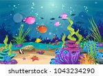 marine habitats and the beauty... | Shutterstock .eps vector #1043234290