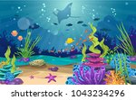 marine habitats and the beauty... | Shutterstock .eps vector #1043234296