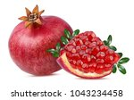 fresh pomegranate isolated on... | Shutterstock . vector #1043234458