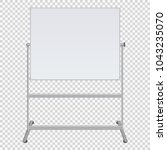 large flip chart blank on... | Shutterstock .eps vector #1043235070