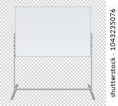 large flip chart blank on... | Shutterstock .eps vector #1043235076