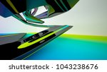 abstract dynamic interior with... | Shutterstock . vector #1043238676