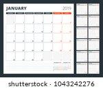 calendar planner for 2019 year. ... | Shutterstock .eps vector #1043242276