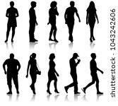 silhouette group of people...   Shutterstock . vector #1043242606