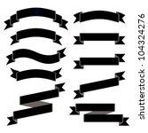 black ribbons. | Shutterstock .eps vector #104324276