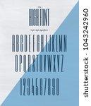vector high style font modern... | Shutterstock .eps vector #1043242960