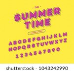 vector colorful font modern... | Shutterstock .eps vector #1043242990