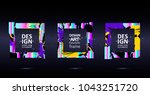 placard templates set with... | Shutterstock .eps vector #1043251720