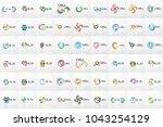 swirl circle logo mega... | Shutterstock .eps vector #1043254129