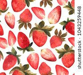 seamless pattern with isolated... | Shutterstock . vector #1043259448
