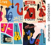set of music cards and banners. ...   Shutterstock .eps vector #1043260654