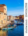 island murano in venice italy... | Shutterstock . vector #1043262508