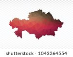 map polygonal kazakhstan map.... | Shutterstock .eps vector #1043264554