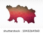 map polygonal jersey map.... | Shutterstock .eps vector #1043264560