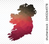 map polygonal ireland map.... | Shutterstock .eps vector #1043264578