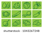 healthy vegetables  avocado ... | Shutterstock .eps vector #1043267248