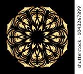 mandala. arabesque. gold round...   Shutterstock .eps vector #1043267899